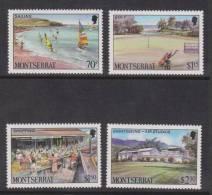 Montserrat 1986 Tourism Scene & Activity Set 4 MNH - Montserrat