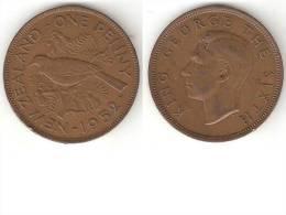 New Zealand 1 Penny 1952  Km 21 - Nouvelle-Zélande