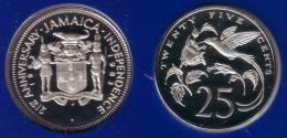 "JAMAICA - 25 Cents 1983 FM ""21st ANNIVERSARY"" - KM#105 Proof [Rare Type] - Jamaica"
