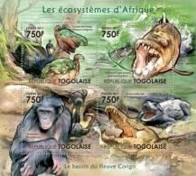 TOGO 2011 - Congo Basin - YT 2672-2675; CV = 17 € - Vissen