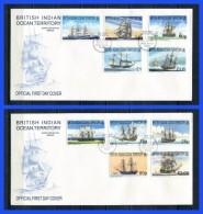 BIOT 1999 SHIPS DEFINITIVE SERIES 2 FDC - British Indian Ocean Territory (BIOT)