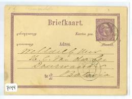 NEDERLANDS-INDIE * HANDGESCHREVEN BRIEFKAART Naar LOKAAL BATAVIA (7144) - Indes Néerlandaises