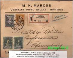TURKEY , EARLY OTTOMAN SPECIALIZED FOR SPECIALIST, SEE....Mi. Nr. 955 X Auf E-Brief Als MiF - 1921-... Republic