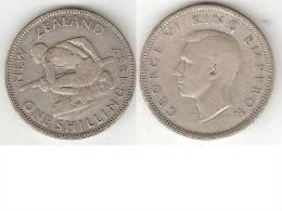 *new Zealand 1 Shilling 1937  Km 9  Vf - Nouvelle-Zélande