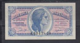 ESPAÑA 1937. 50 CENTIMOS.REPUBLICA. NUEVO.SIN CIRCULAR . B304 - [ 2] 1931-1936 : République