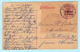 GERMANY DEUTSCHES REICH BELGIEN 1914-18 - Ganzsache Postal - Karte Postcard (2 Scan) (9091) - Besetzungen 1914-18