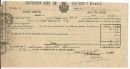 B13B-DOCUMENTO FISCAL  MURCIA CARAVACA IMPUESTOS TASAS.MORATALLA. SPAIN REVENUE FISCAUX.1903 BUEN ESTADO CON SELLO FISC - Manuscritos