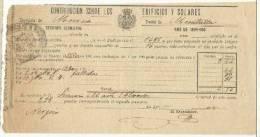 B13F-DOCUMENTO FISCAL  MURCIA CARAVACA IMPUESTOS TASAS.MORATALLA. SPAIN REVENUE FISCAUX.1899 BUEN ESTADO CON SELLO FISC - Manuscritos