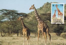 WWF - 084,31 - CM-MC - € 1,47 - 12-7-1989 - 1´20 - Reticulated Giraffe - Kenya 1081212 - Kenya (1963-...)