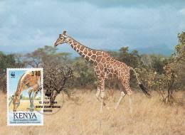 WWF - 084,32 - CM-MC - € 1,56 - 12-7-1989 - 3´40 - Reticulated Giraffe - Kenya 1081212 - Kenya (1963-...)