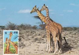 WWF - 084,33 - CM-MC - € 1,65 - 12-7-1989 - 4´40 - Reticulated Giraffe - Kenya 1081212 - Kenya (1963-...)