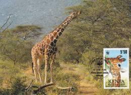 WWF - 084,34 - CM-MC - € 1,74 - 12-7-1989 - 5´50 - Reticulated Giraffe - Kenya 1081212 - Kenya (1963-...)