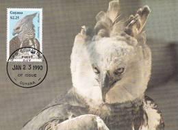 WWF - 089,31 - CM-MC - € 1,00 - 23-1-1990 - $2,25 - Harpy Eagle - Guyana 1095212 - Guyane (1966-...)