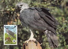 WWF - 089,32 - CM-MC - € 1,06 - 23-1-1990 - $5 - Harpy Eagle - Guyana 1095212 - Guyane (1966-...)