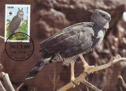 WWF - 089,33 - CM-MC - € 1,12 - 23-1-1990 - $8,90 - Harpy Eagle - Guyana 1095212 - Guyane (1966-...)