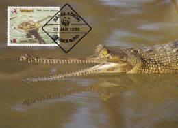 WWF - 090,32 - CM-MC - € 1,31 - 31-1-1990 - T2 - Gharial - Bangladesh 1087212 - Bangladesh