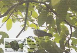 WWF - 093,33 - CM-MC - € 1,12 - 19-2-1990 - 20c - Birds Of Micronesia - Micronesia 1105212 - Micronésie