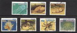 Australia 1984-1986 Marine Life 7 Values Used - Used Stamps