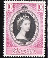Malaya Malacca 1953 Coronation Issue Omnibus MNH - Malacca