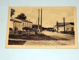 Carte Postale Ancienne : SAINT-JEAN D'ILLAC : Route D'Ares-Andernos , Animé - Autres Communes