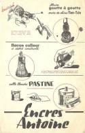 Buvard  Encres Antoine Encre De Chine  Colle Blanche Pastine  Flacon Goute A Goutte  Flacon Colleur A Débit Controlé - Blotters