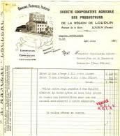 LOUDUN  Avenue De La Gare - Société Coopérative Agricole Des Producteurs. - Agriculture
