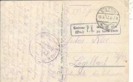 De Stettin (Szeczcin) D´un Soldat Alsacien à Sa Famille Censure De Colmar Pour Logelbach Elsass - Marcophilie (Lettres)