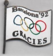 Beau Pin´s En EGF , JO , Jeux Olympiques Barcelona 92 , Gracies , Barcelone - Olympic Games