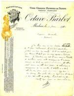 MIREBEAU  - Octave BARBOT  -  Vins,  Grains ,Pommes De Terre Engrais - Agriculture