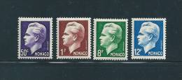 Monaco Timbres De 1950/51  N°344  A  347  Timbre Neufs ** - Monaco