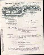 """GRANDE TUILERIES MECANIQUES DU QUERCY """" TUILACABANE A PUY BLANC / FACTURE DATEE 1936  (DPT 46 ) - 1900 – 1949"""