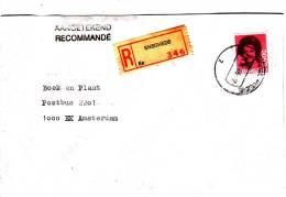 Aangetekende Envelop Met Strookje Nr 346 ENSCHEDE  Es - Ongebruikt