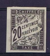 Colonies Francaises:  Taxe Yv. 8 MH/*