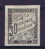 Colonies Francaises:  Taxe Yv. 9 MH/*