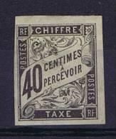 Colonies Francaises:  Taxe Yv. 10 MH/*