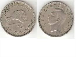 *new Zealand 1 Florin 1949  Km 18  Vf - Nouvelle-Zélande