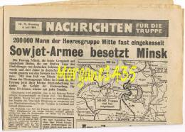 Journal Propagande Nachrichten Truppe Cherbourg Dollmann U-boot 1944 Photos - Documents