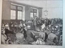Paris , Inauguration Dispensaire Rue Labat , Fondé Par Société Philanthropique , Gravure D'aprés Dessin De Gérardin 1888 - Documenti Storici