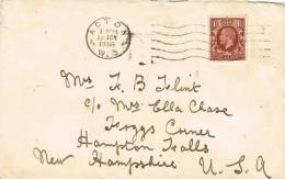 0658. Carta ACTON West London (Gran Bretaña) 1936 - 1902-1951 (Kings)