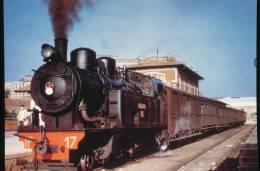 """Fc.de La Robla --- Locomotora Vapor 1-3-1T N°17 """" Alfredo Ustara """" -- Estacion De Leon Hacia 1960 - Eisenbahnen"""