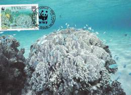 WWF - 131,34 - CM-MC - € 1,19 - 1-9-1992 - 35C - Blue Coral - Tuvalu 1145212 - W.W.F.