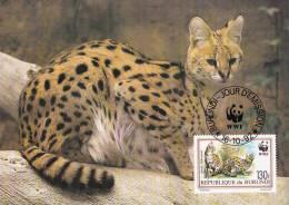 WWF - 133,32 - CM-MC - € 1,98 - 16-10-1992 - 130F - Serval - Burundi 1147212 - W.W.F.