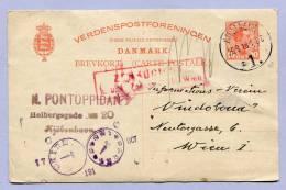 Card Postkarte Carte Postale Post Card Brevkort Zensur Zensored KOPENHAGEN To VIENNA WIEN 1918 (418) - Denmark