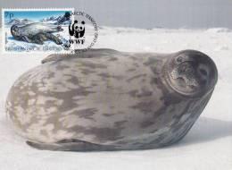 WWF - 134,33 - CM-MC - € 1,35 - 20-10-1992 - 7p - Antarctic Wildlife - Brit. Antarctic Terr. 1139212 - W.W.F.
