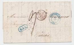 LETTRE PRECURSEUR BXL VERS PARIS 1841 AVEC BELGIQUE PAR VALENCIENNES A VOIR - 1830-1849 (Belgique Indépendante)