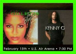 FAMOUS PEOPLES - TONY BRAXTON, SINGER & KENNY G, SINGER - WASHINGTON D.C. - GO-CARD - - Femmes Célèbres
