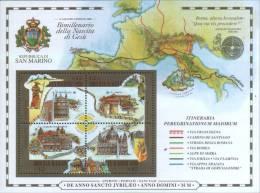 """San Marino 2000 Foglietto  """"Il Giubileo Del 2000 - Bimillenario Della Nascita Di Gesù """" ** MNH - Unused Stamps"""