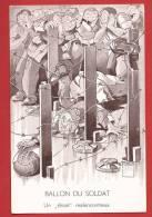 Y0142 Minouvis 1939 Militaire Ballon Du Soldat,derrière Les Barbelés. Grenzbesetzung,occupation Frontières. - Humour