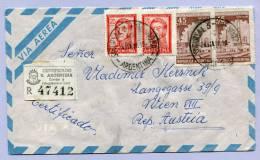 Air Mail Registered Letter ARGENTINA MENDOZA To VIENNA WIEN  (854) - Luftpost
