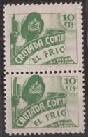 CCF25-LM53TAN.Spain.Espagne .BENEFICENCIA.CRUZADA CONTRA EL FRIO.1936.(Galvez 25**par) Sin Charnela .MUY BONITOS.RAROS - 1931-Hoy: 2ª República - ... Juan Carlos I